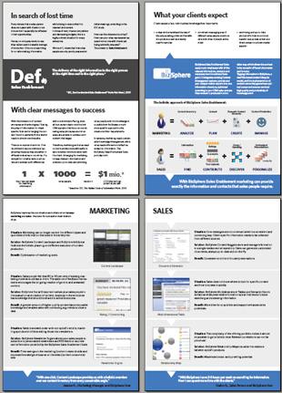 Brochure on Sales Enablement